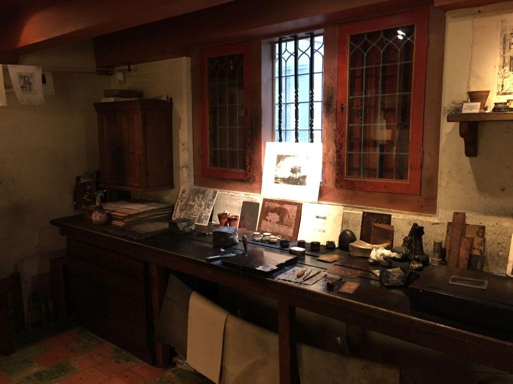 Rembrandts Druckerwerkstatt im Museum Het Rembrandthuis in Amsterdam