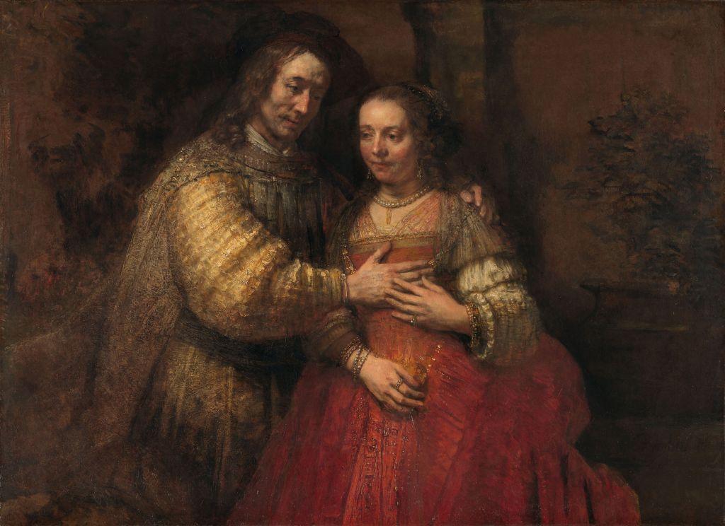 """Rembrandt Harmensz. van Rijn, Isaac und Rebecca, bekannt als """"Die Judenbraut""""1665-1669. Rijksmuseum, Amsterdam"""