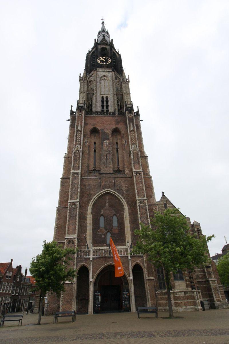 Frontansicht der Nieuwe Kerk in Delft