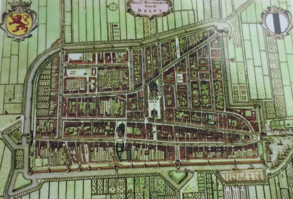 Stadtansicht von Delft aus dem 17. Jahrhundert