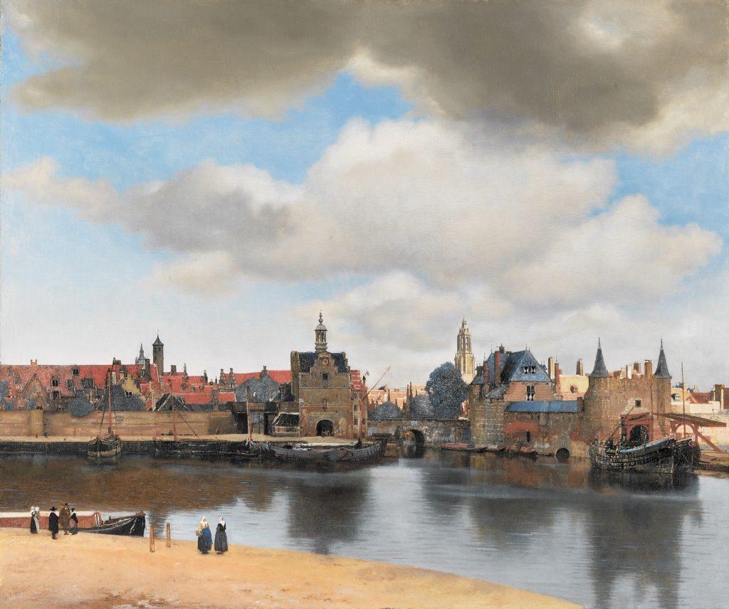 Oelgemaelde Johannes Vermeer, View of Delft, Mauritshuis, Den Haag