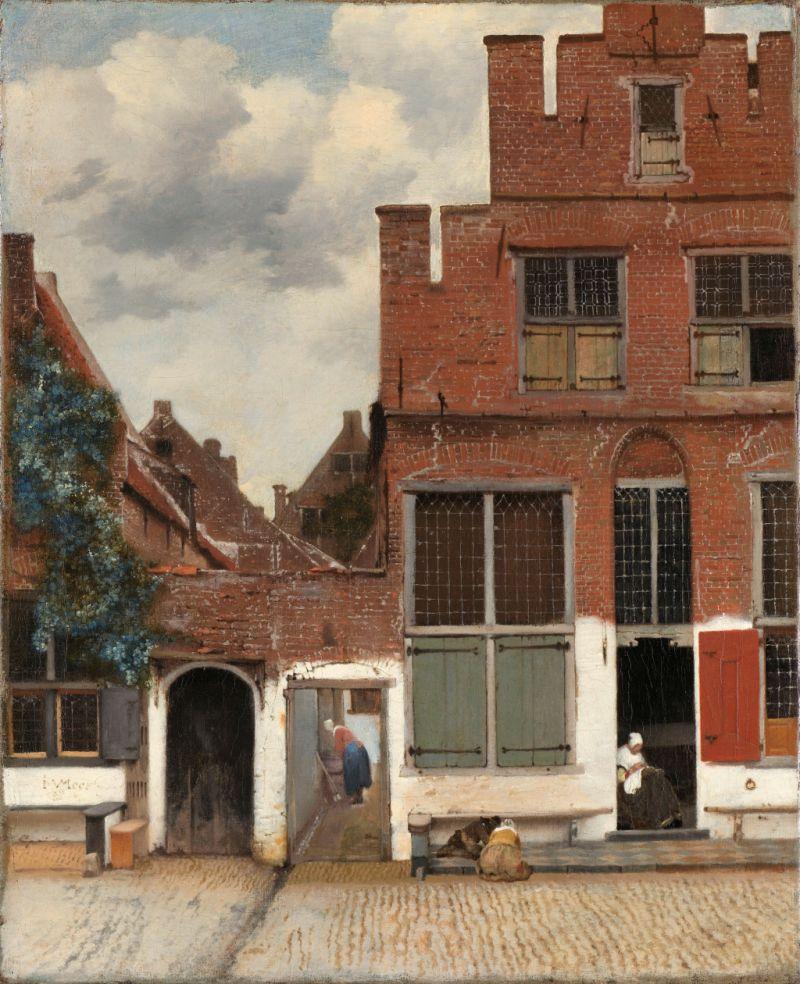 Gemaelde Straße in Delft von Johannes Vermeer
