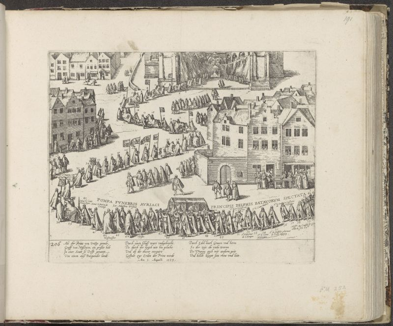 Begraebnis von Willem van Oranje, 1584, Frans Hogenberg, 1587 - c. 1591