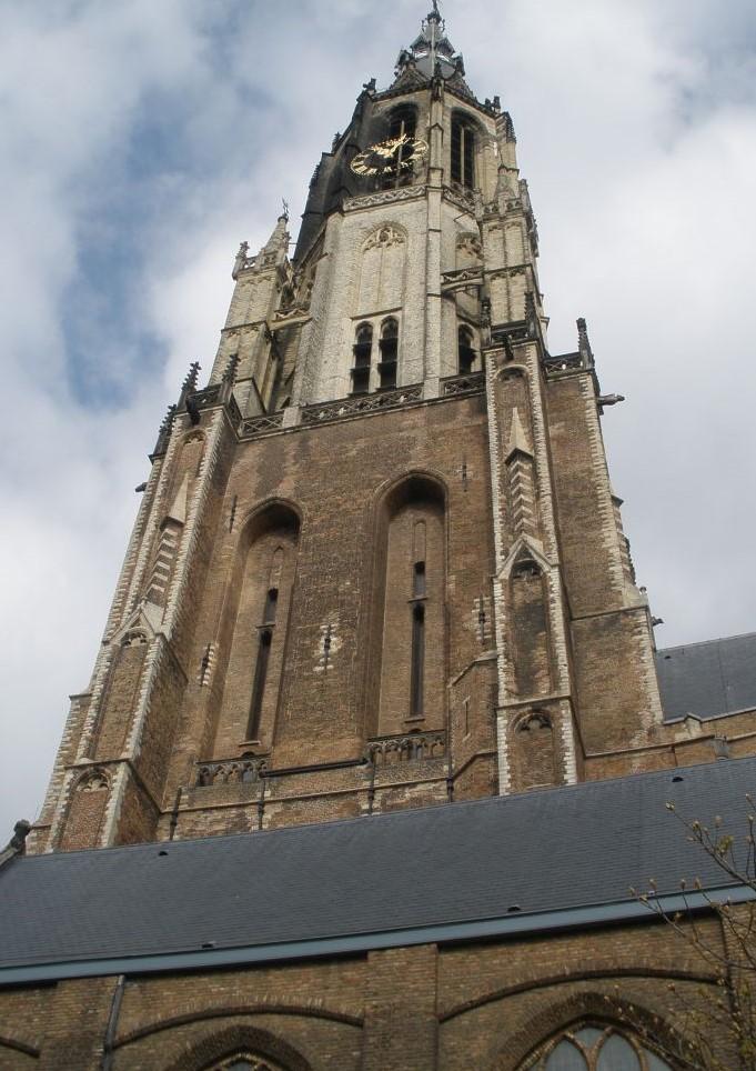 Turm der Neuen Kirche in Delft