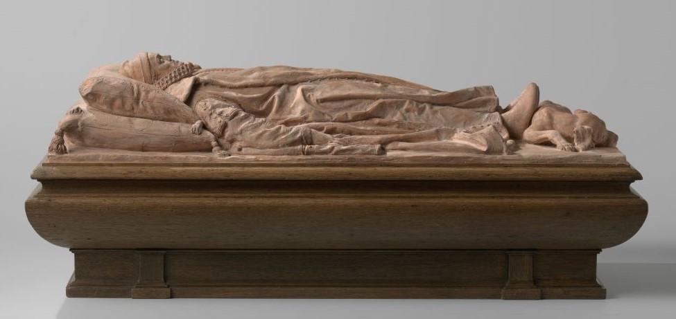 Modell der Liegefigur für das Mausoleum Wilhelm von Oranien von Hendrick de Keyser