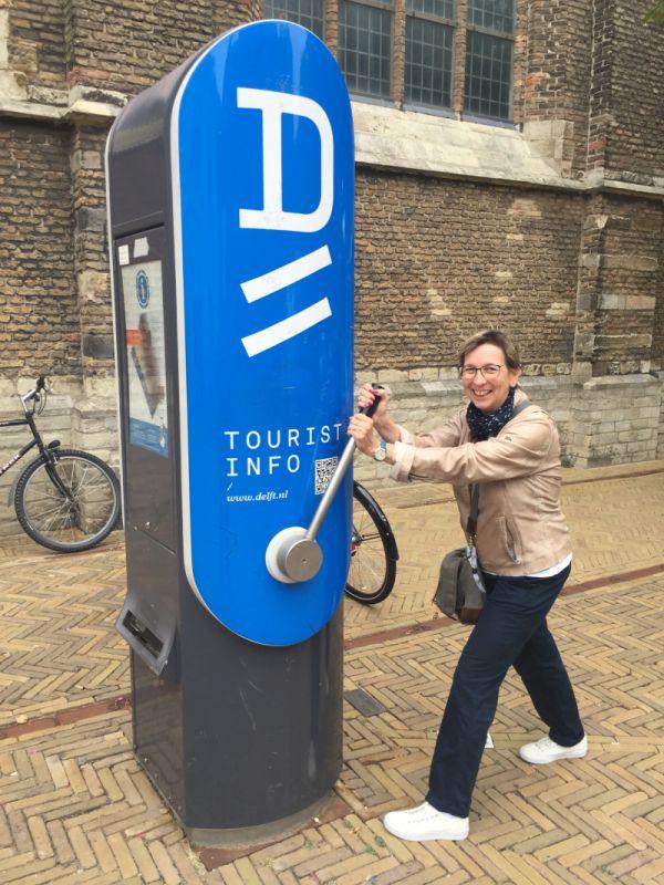 Einarmiger Bandit oder Stadtplan-Automat in Delft