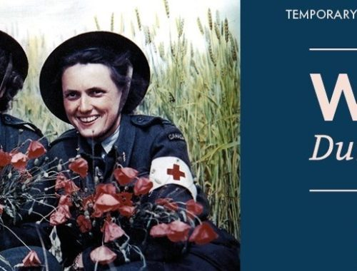 "Plakat zur Sonderausstellung ""Great Women at War 1939-1935 im Juno Beach Centre in Courseulles-sur-Mer, Normandie"
