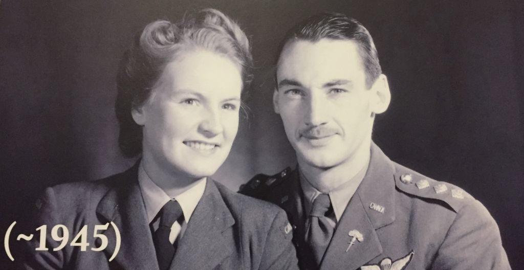 Sonya (Butt) d'Artois mit ihrem Mann Guy 1945