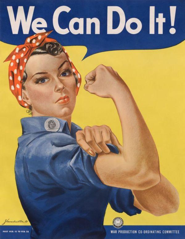 Werbeplakat der US Regierung aus dem II. Weltkrieg, das Frauen für die Munitionsindustrie anwirbt