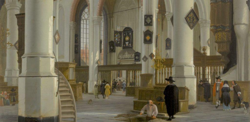 Inneres der Alten Kirche in Delft, 1659 Hendrik Cornelisz. van Vliet (161112 - 1675)