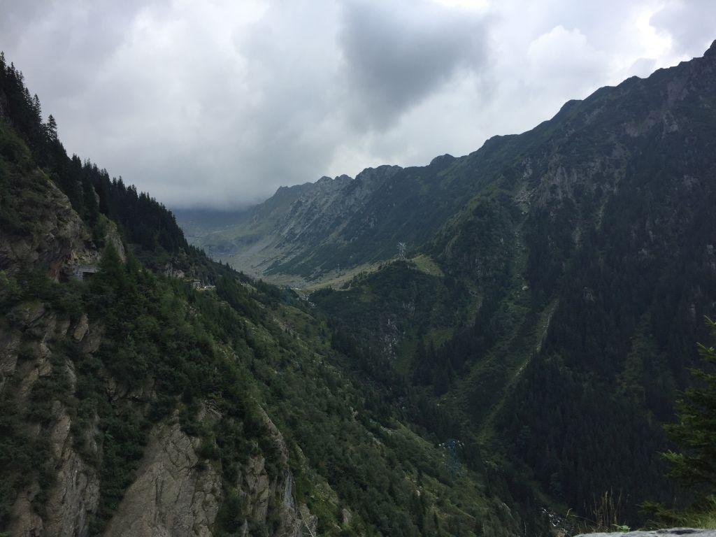 Blick auf die Karpaten von der Transfogarascher Hochstrasse