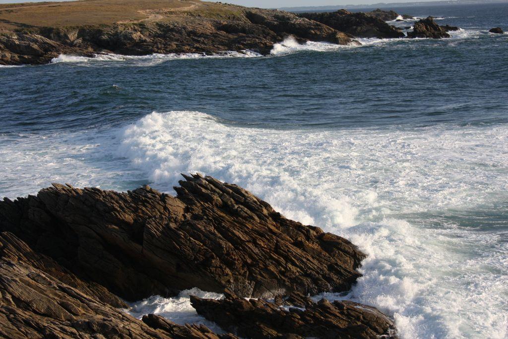 Die wilde Küste der Halbinsel Quiberon in der Bretagne