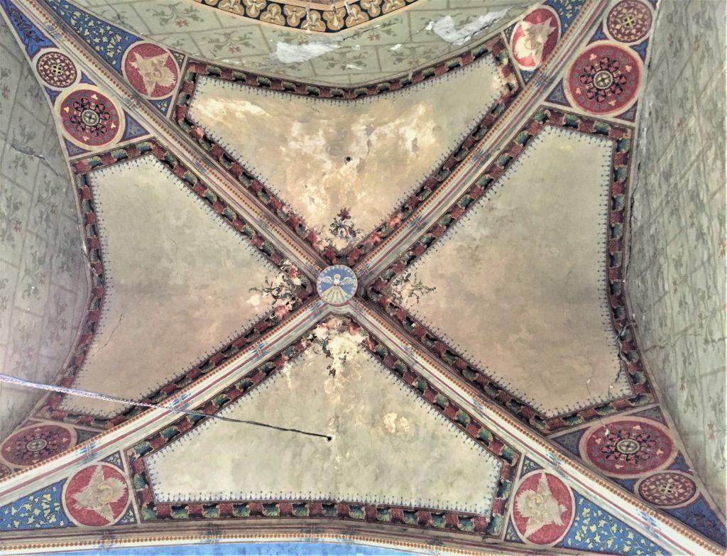 Bemalte Gewölbedecke in der Kirchenburg von Weidenbach (Ghimbav)