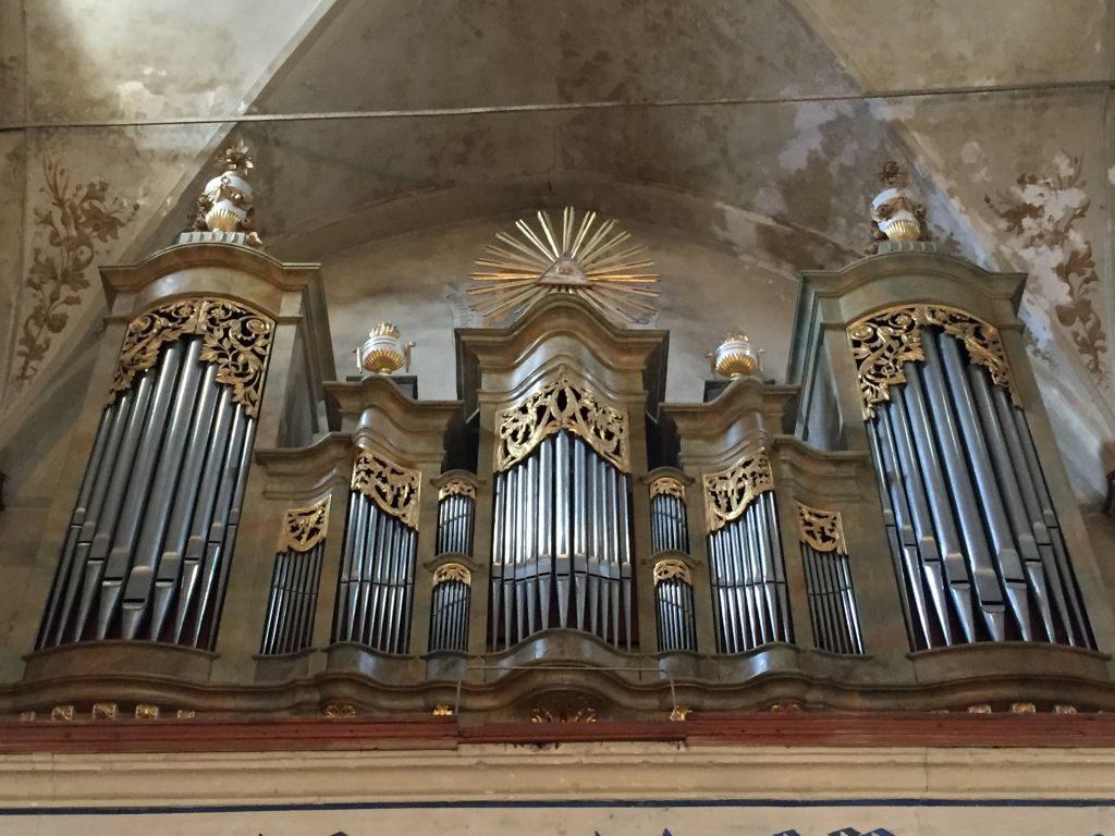 Orgel von Johann Prause in der Kirchenburg von Weidenbach (Ghimbav)