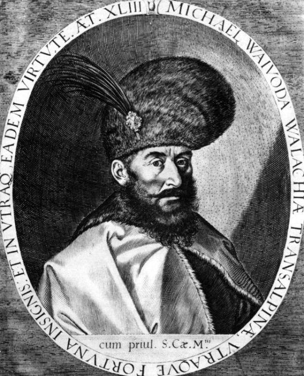 Mihai Viteazul (Michael der Tapfere), im Jahr 1601 in Prag angefertigtes Portraet von Egidius Sadeler dem Aelteren