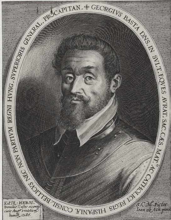 Portraet Giorgio Basta, Stich aus dem 17. Jahrhundert