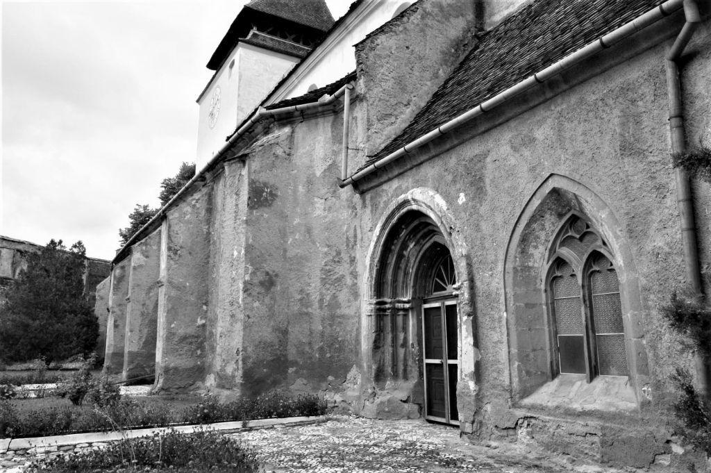 Suedfassade der Kirchenburg von Weidenbach (Ghimbav)