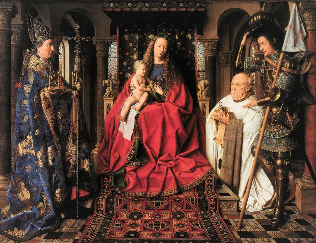 Gemaelde Madonna des Kanonikus Joris van der Paele von Jan van Eyck