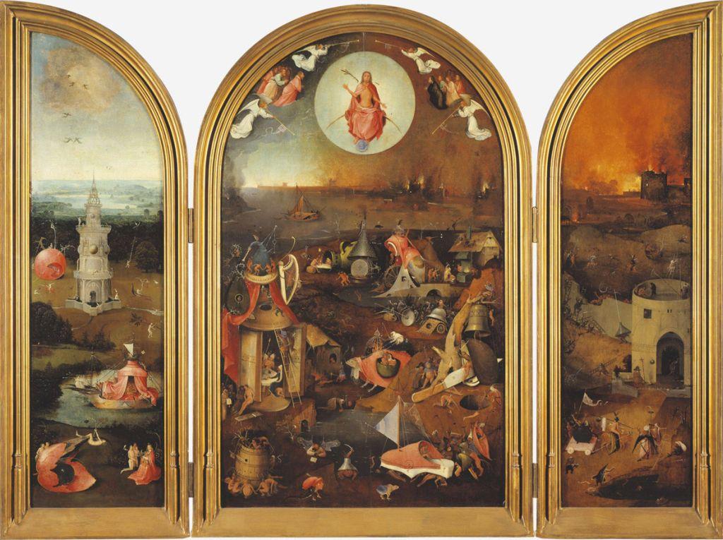 Das Juengste Gericht; Triptychon von Hieronymus Bosch im Museum Groeninge in Bruegge