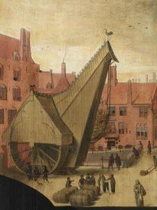 Detail des Gemaeldes Portraets von Jan van Eyewerve und Jacquemyne Buuck, von Pieter Pourbus