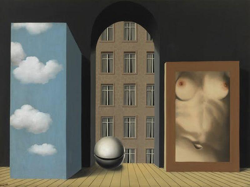 L'attentat, Bild von Rene Magritte