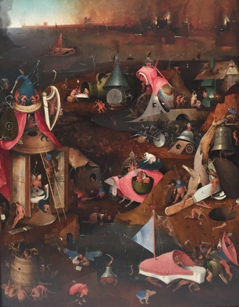 Detail aus Das Juengste Gericht von Hieronymus Bosch im Museum Groeninge in Bruegge