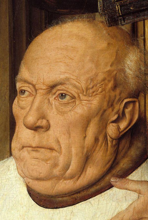 Detail des Geaeldes die Madonna des Kanonikus Joris van der Paele von Jan Eyck