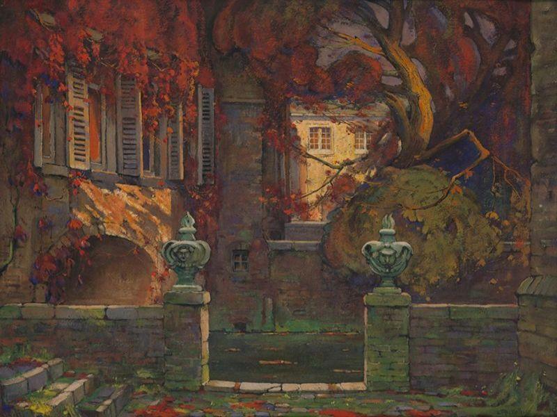 Gemaelde von Louis Reckelbus, Das Arentshuis in Bruegge