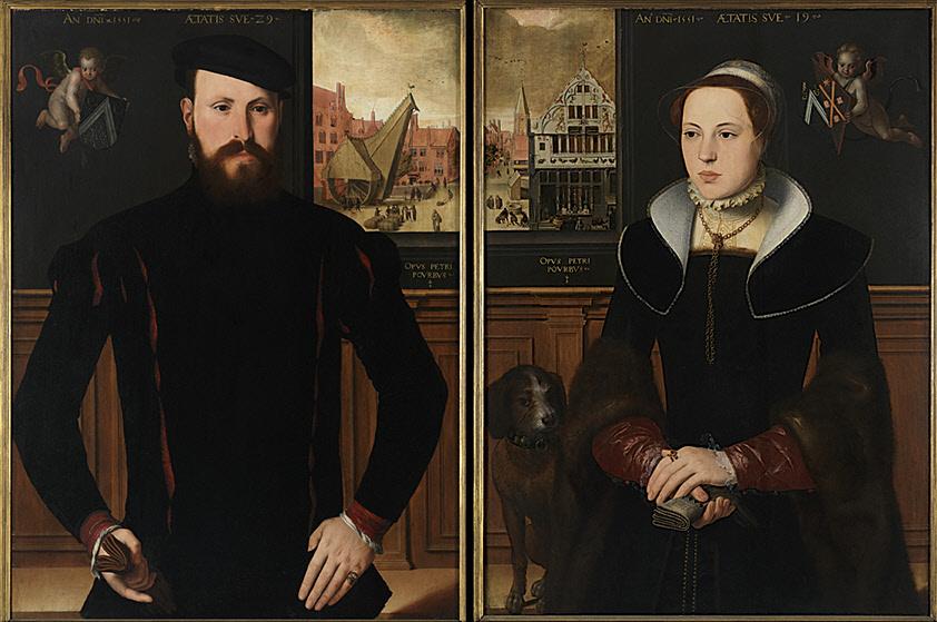 Gemaelde Portraets von Jan van Eyewerve und Jacquemyne Buuck, von Pieter Pourbus, 1551