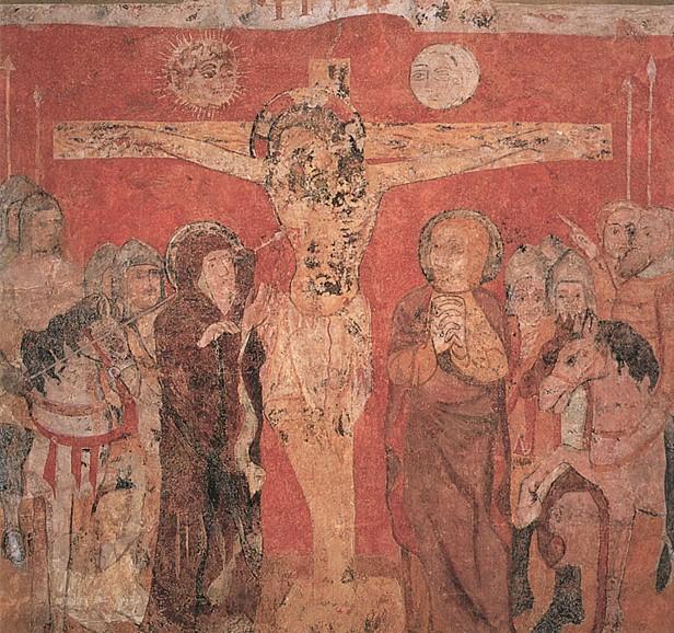 Fresken aus der Kirche San Salvador in Gallipienzo