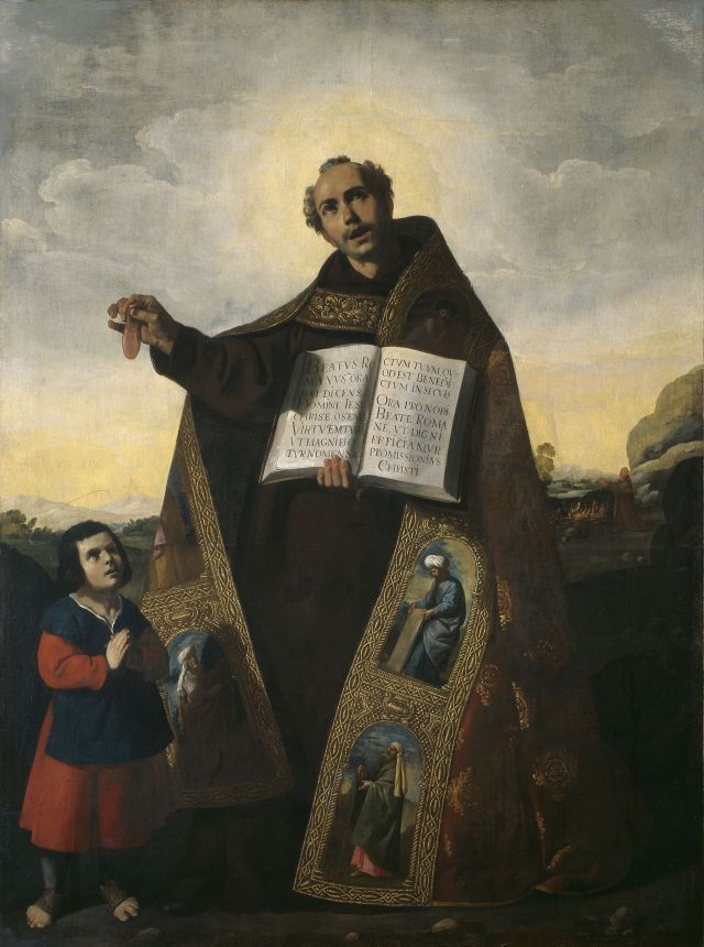 Gemälde von Francisco de Zurbarán, Saint Romanus of Antioch and Saint Barulas, 1638, The Art Institute of Chicago.