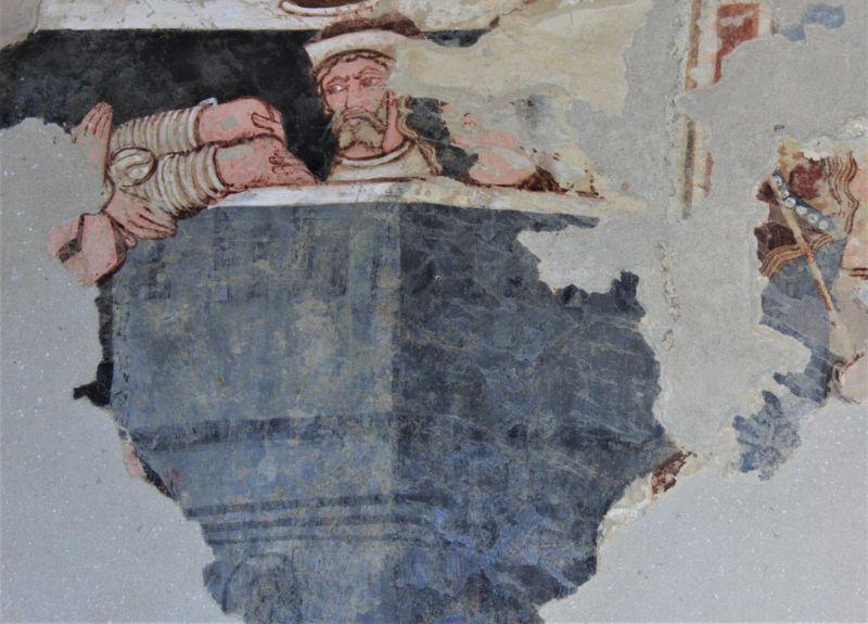 Freskendetail aus der Wehrkirche von Dersch / Darjiu