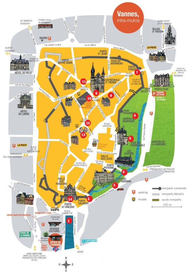 Stadtplan von Vannes
