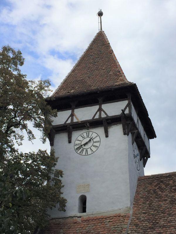 Glockenturm der Wehrkirche in Kleinschenk / Cincsor, Siebenbuergen