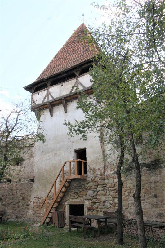 Speckturm der Kirchenburg in Kleinschenk / Cincsor, Siebenbuergen