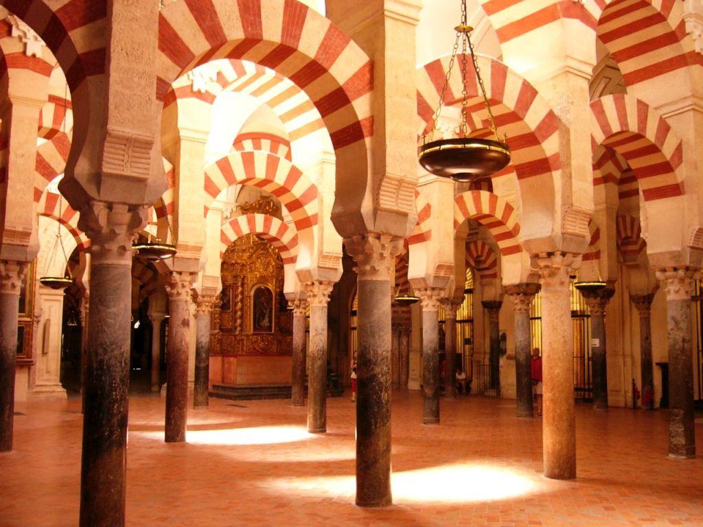 Saelenwald in der Mezquita in Córdoba