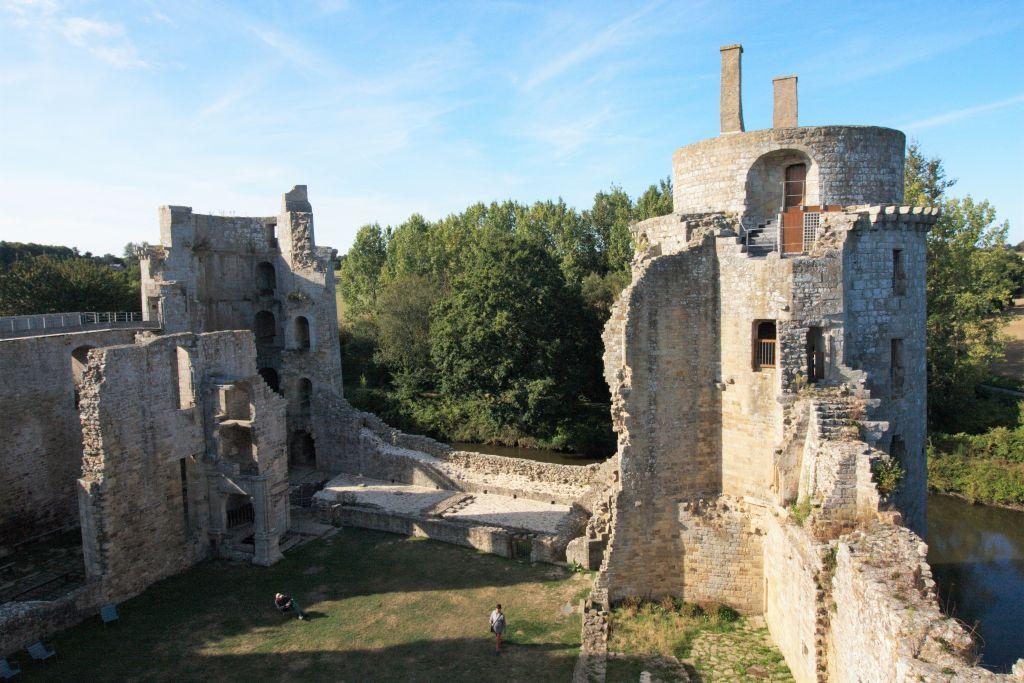 Tour seigneuriale des Chateau de la Hunaudaye in der Cotes d'Armor