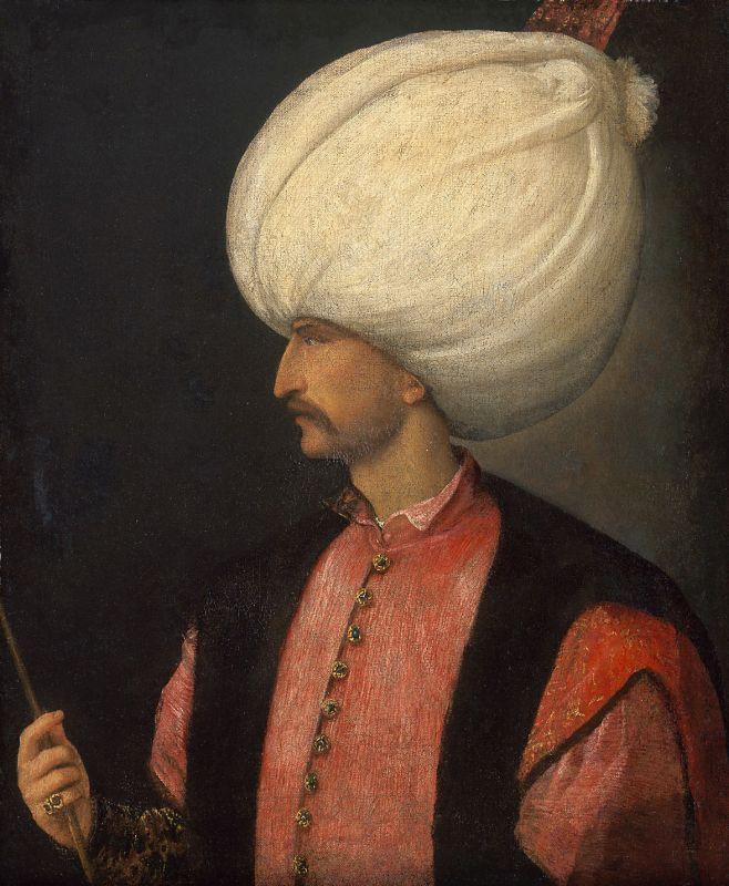 Portraet Sultan Suleiman II; Kuenstler anonym (vorm. Tizian zugeschrieben); 1530