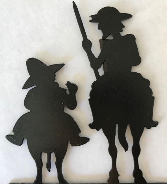 Scherenschnitt Don Quijote und Sancho Panza
