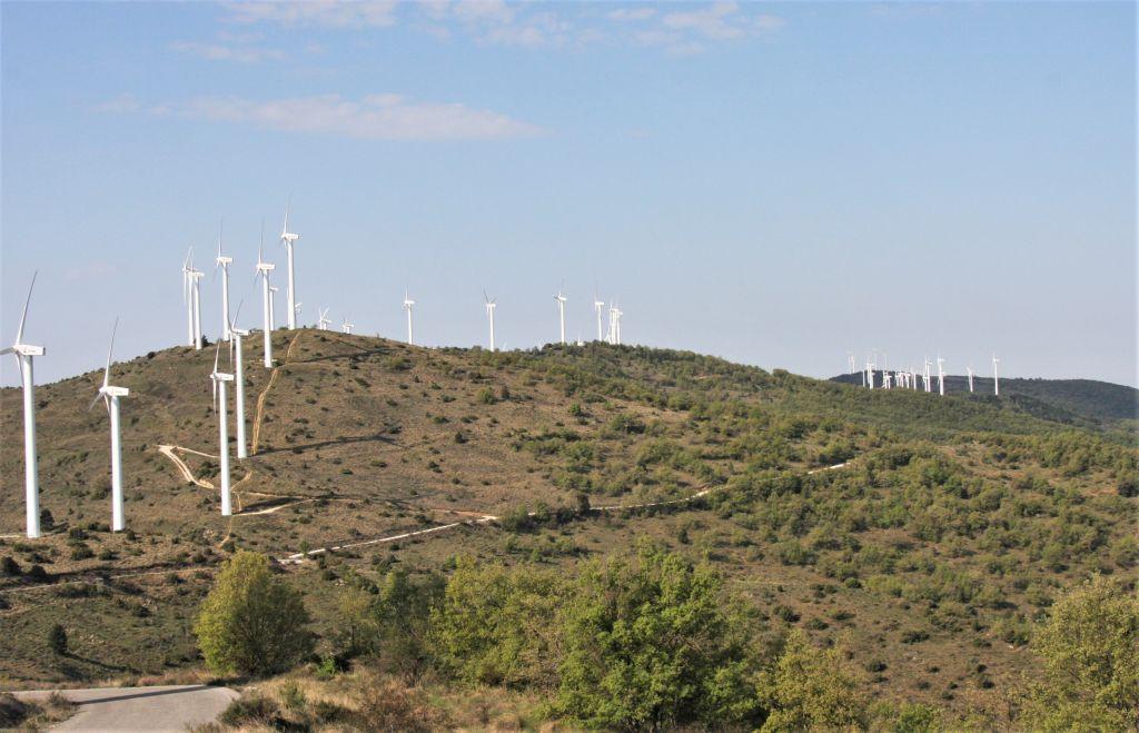 Windraeder auf der Sierra del Perdón