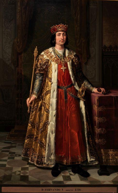Retrato imaginario del reyFernando II de Aragón(1452-1516); ca. 1848; Bernardino Montañés Pérez; Museo del Prado