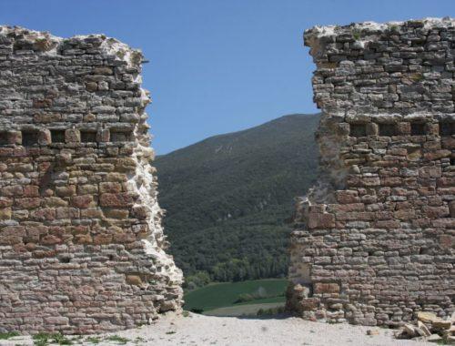 Ruinen der Festung Tiebas Muruarte de Reta