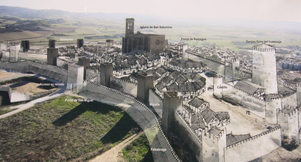 Schematische Darstellung der Festungsanlage El Cerco von Artajona