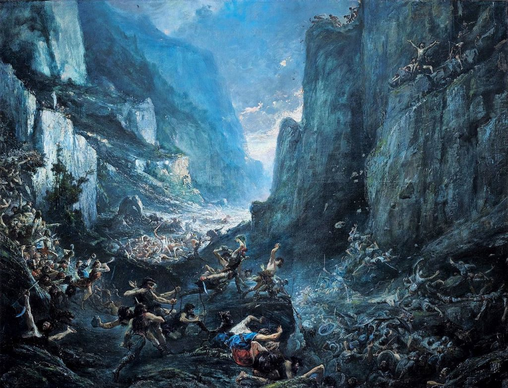 Gemaelde Gustave Doré, Roland à Roncevaux