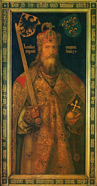 Albrecht Dürer; ca. 1511-1513; Idealbild Karl der Große im Krönungsornat mit Reichskrone