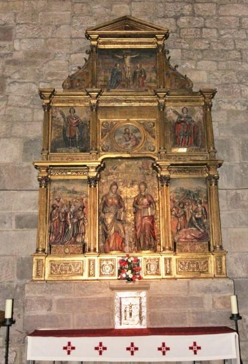Altar der Heiligen Nunilo und Alodia in der Klosterkirche San Salvador de Leyre