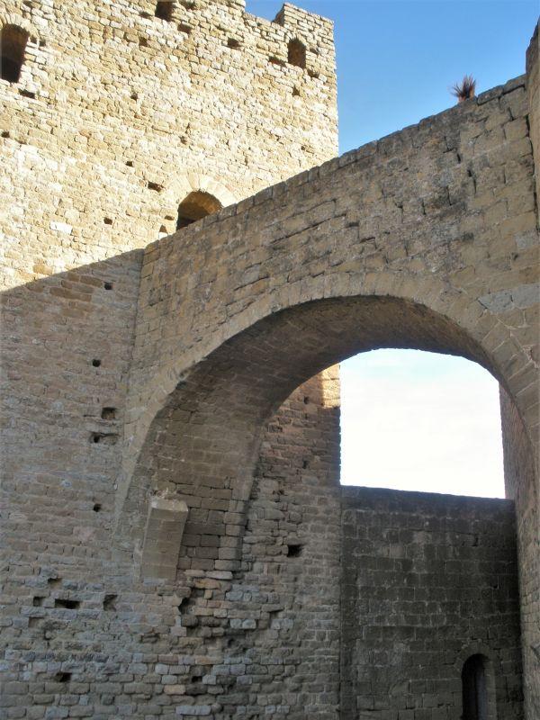 Ruine der Burg Loarre in Spanien