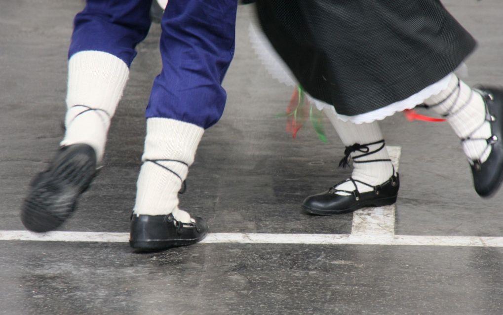 Abarcas, die typischen Schuhe der Landbevoelkerung der Pryenaeen