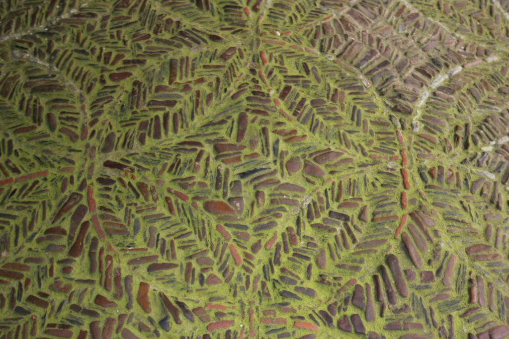 bemooster Mosaikfußboden