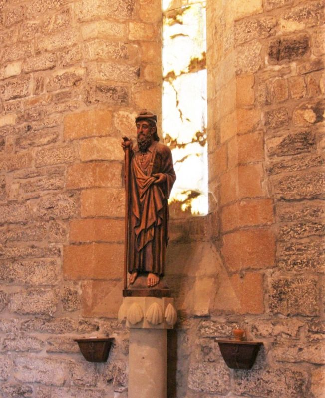 Figur des Heiligen Jakobus als Pilger
